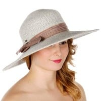 Tied Bow Band Sun Hat BROWN