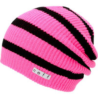 Neff Daily Pink & Black Stripe Beanie