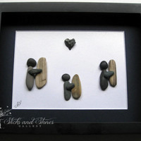 Surfer Themed Pebble Art -Gifts For Him- Pebble Art Surfer - Gifts For Men - Surfer's Gift - Surfer Themed Gifts - Gifts For Him