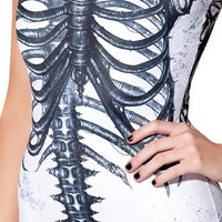 Skeleton Bodysuit in White