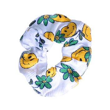 Deadstock 90s Scrunchie ~ New Styles added!!! ~ Patterned/textured, smiley face, floral, Sunflower!