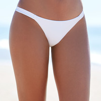 LA Hearts Ribbed Lace-Up Cheeky Brief Bikini Bottom at PacSun.com