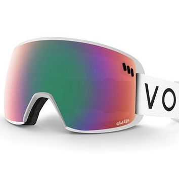 VonZipper - ALT SM White Satin Snow Goggles / Wildlife Lenses