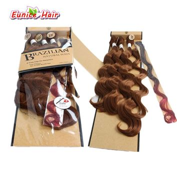 """18"""" 20"""" 22inch Ombre body wave with closure brazilian natural wave 1B/30/27 Three Tone Color synthetic body wave Hair weft"""