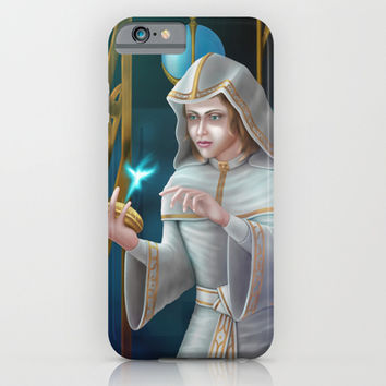 White Priestess iPhone & iPod Case by Egberto Fuentes