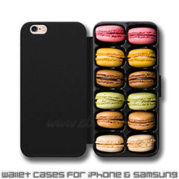 French Macarons Box Wallet iPhone cases French Macarons Samsung Wallet Case