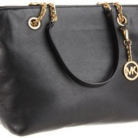 MICHAEL Michael Kors Jet Set Chain Large Chain E/W Tote,Black,one size