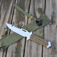 Tactical Hunting Bowie 10.75 inch with Fixed Blade
