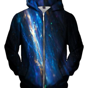 Fiber Optics Light Show Zip-Up Hoodie