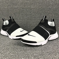NIKE contrast Trending Fashion Casual Sports Shoes Rose Black White-white soles