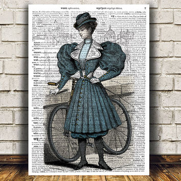Dictionary poster Lady print Antique art Vintage print RTA1105