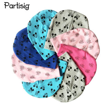 2017 Brand Baby Hat Cartoon Character Mickey Print Caps For Boy Girl Cotton Knit Spring Autumn Winter Children Hats Baby Beanie