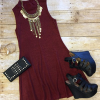 Make Your Mock Tunic Dress: Burgundy