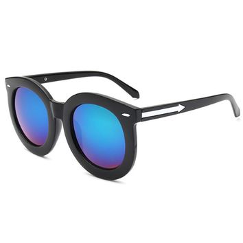 Mirrored Lense Sunglasses - Blue Green