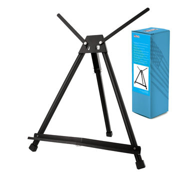 US Art Supply Table Top Aluminum Tri-Pod Artist & Display Easel (Large - Double Arm) 1