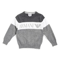 Boy's Armani Junior Colorblock Sweater,
