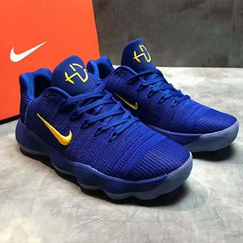 NIKE HD NBA Running shoes Sneaker sapphire blue-yellow hook H-PSXY