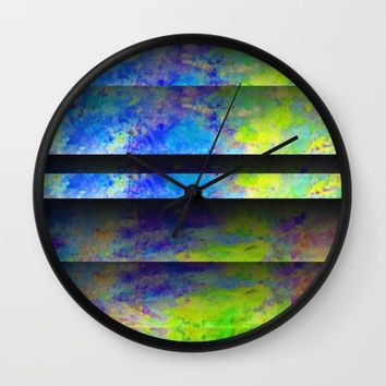Yellow Color Blinds Wall Clock by ARTDIGITAL