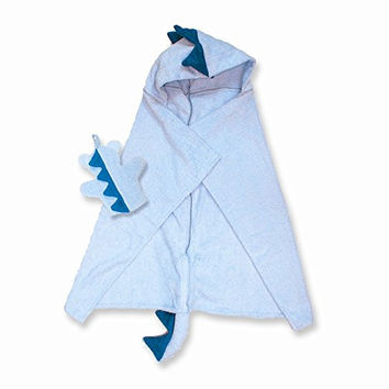 Dinosaur Hooded Cotton Terry Bath Towel