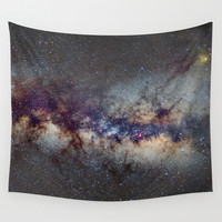 The Milky Way: from Scorpio, Antares and Sagitarius to Scutum and Cygnus Wall Tapestry by Guido Montañés
