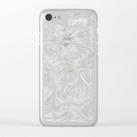 Silvery/Gray Flower Clear iPhone Case by Lindsay