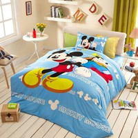 Awesome Mickey Mouse Light Blue Bedding Set | EBeddingSets
