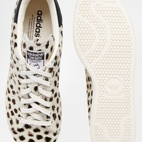 adidas Originals Cheetah Print Pony Stan Smith Trainers at asos.com