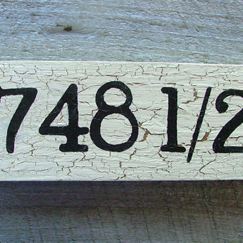 Custom Wooden House Number Sign - Reclaimed Wood - Hand-painted