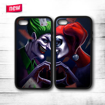 Joker And Harley Quinn  iPhone 4 4S 5 5S 5C 6 6 Plus , iPod 4 5 , Samsung Galaxy S3 S4 S5 S6 S6 Edge Note 3 Note 4 , HTC One X M7 M8 Couple Case