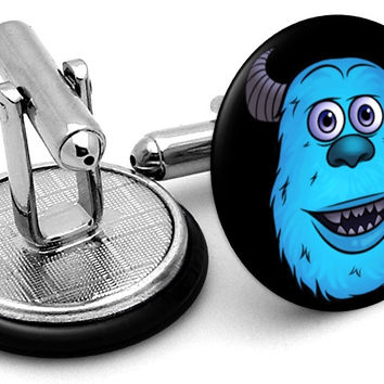 Monster Inc Sulley Face Cufflinks