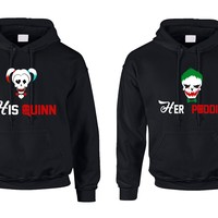 Couples Hoodie His Quinn Her Poddin Trendy Matching Costumes