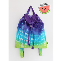 Good Vibes (Zesty Tie Dye Backpack - Pre-order 1 working day)