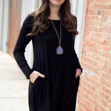 Winter Comfort Dress - Black