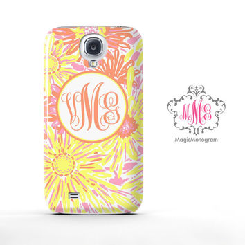 Yellow Sun Kissed Lilly Pulitzer Monogram Samsung Galaxy S6 Case, Galaxy Note 4 Case