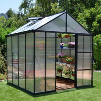 Glory Premium Hobby Grey Greenhouse 8 Feet Wide x 8-20  FeetLong
