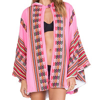 Pitusa Inca Towel Cape in Pink