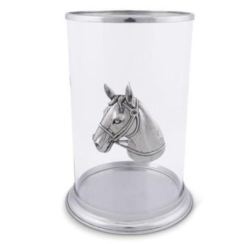 Large Horse Head Pillar Candle Holder