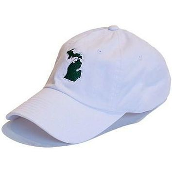 Michigan East Lansing Gameday Hat in White by State Traditions