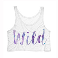 Wild Watercolor Tank Top Crop