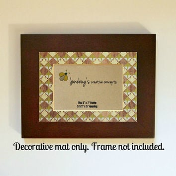 3x5 Photo Mat fits 5x7 Frame Sage Green Wood Grain