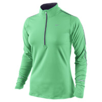 Nike Element Half-Zip Women's Running Top - Green Glow