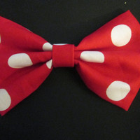 Minnie Mouse Hair Bow with French Barrette clip