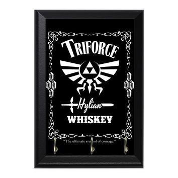 Triforce Whiskey Decorative Wall Plaque Key Holder Hanger