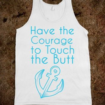 nemo have the courage to touch the butt-Unisex White Tank
