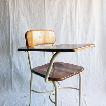 Vintage Heywood Wakefield School Desk / Chair