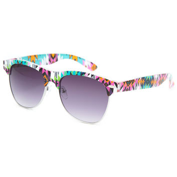 Blue Crown Tribal Club Classic Sunglasses Multi One Size For Women 25747795701