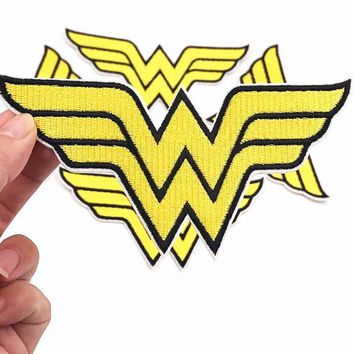 5Pcs/set Wonder woman Avengers Iron On Patch for Jeans Jacket Embroidered Applique Badge Clothes Stickers Apparel DIY Patchwork