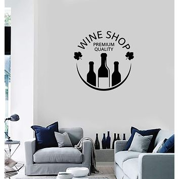 Vinyl Decal Wall Sticker Mural Decor Wine Vault Shop Bottle Alcohol Unique Gift (g105)