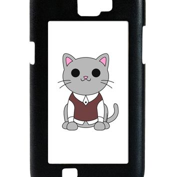 Cute Sweater Vest Cat Design Galaxy Note 2 Case  by TooLoud