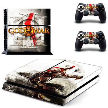 God of war kratos decal skin for ps4  sticker console & controllers
